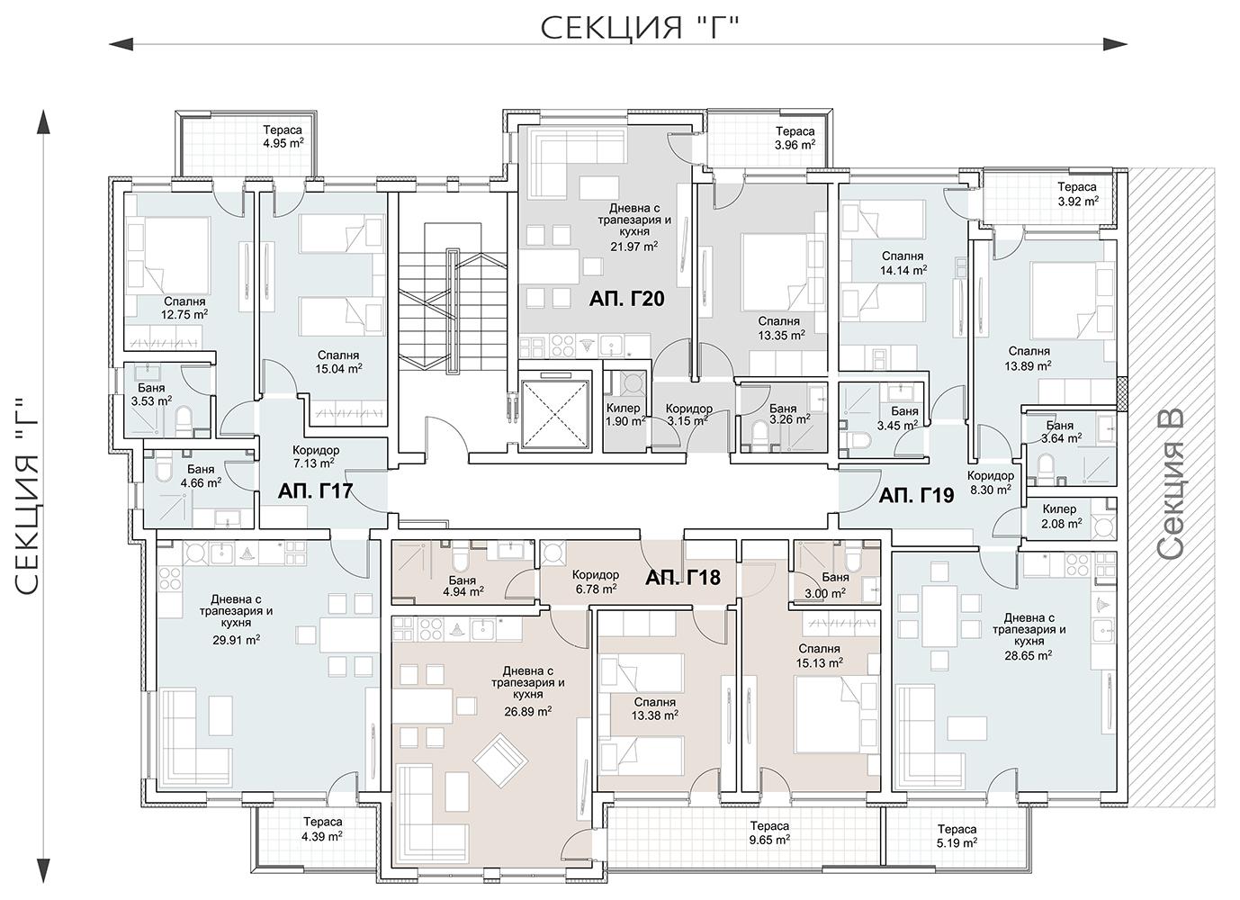 Сграда 1, вход Г, ет. 5
