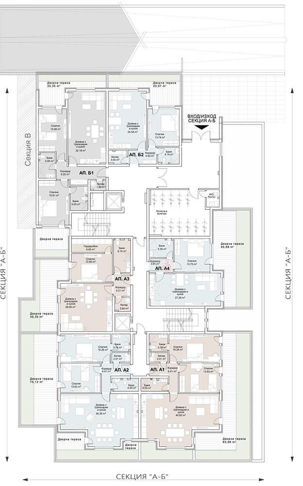 Сграда 7, вход АБ, ет. 1