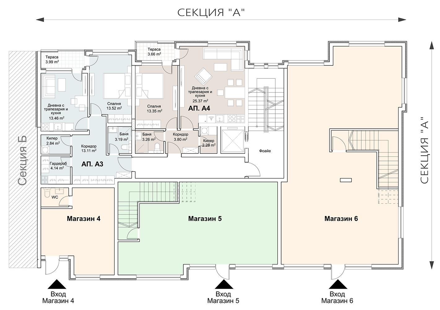 Сграда 8, вход А, ет. 2