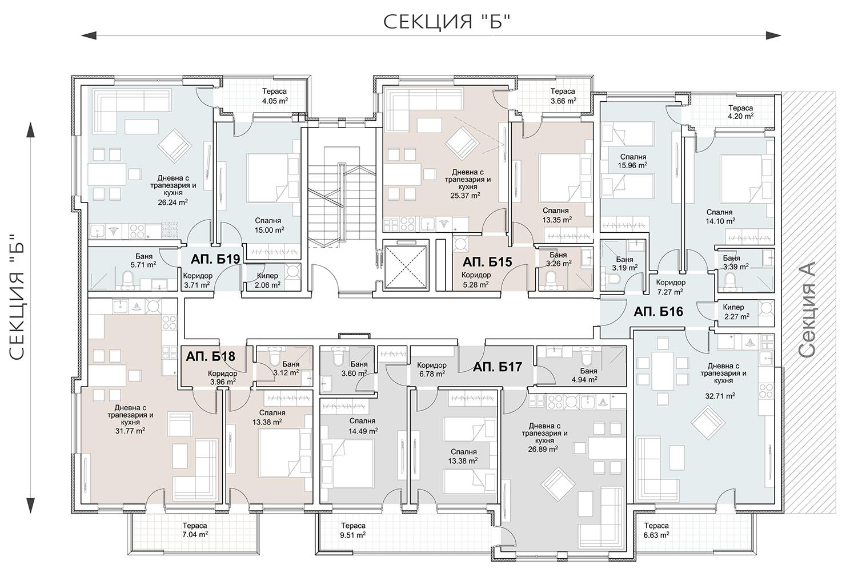 Сграда 8, вход Б, ет. 5